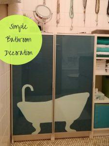 Einfach Dekoration aus Packpapier fürs Bad