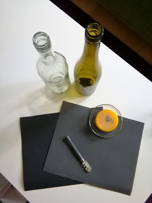 Material für Flaschen Upcycling
