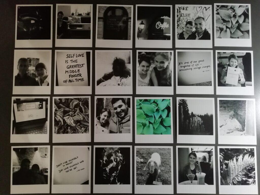 Anordnung der Polaroids