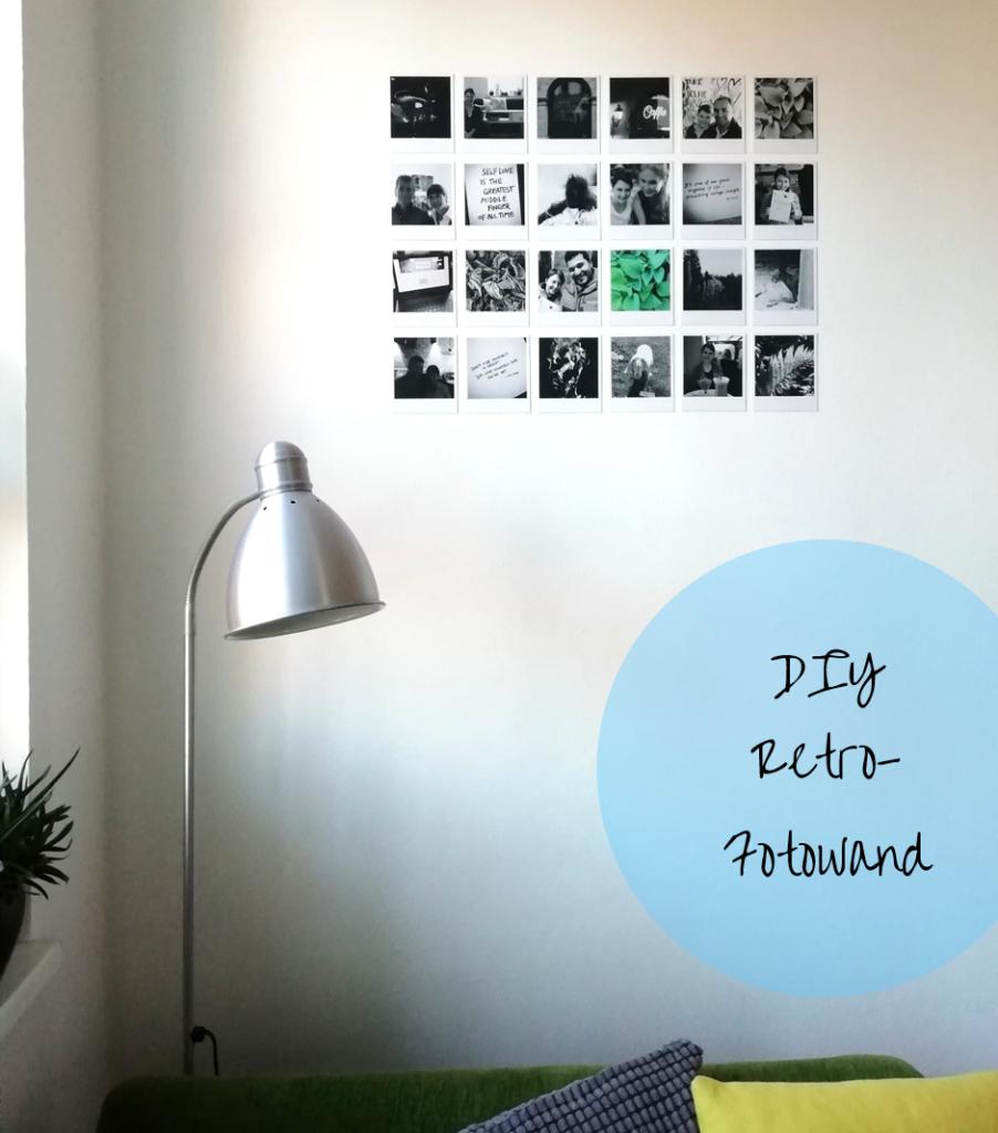 DIY Retro-Fotowand aus Polaroids