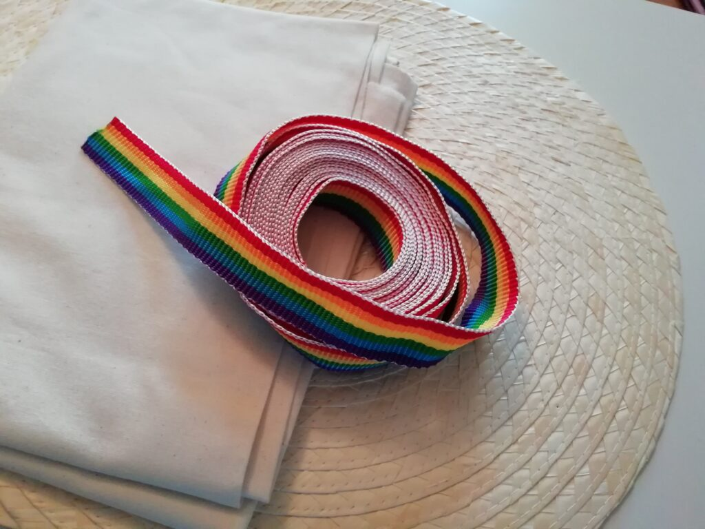 Material für DIY Korbtasche