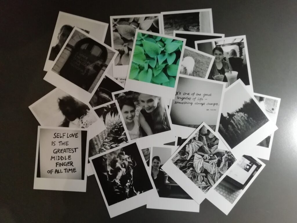Polaroids Retro-Fotowand
