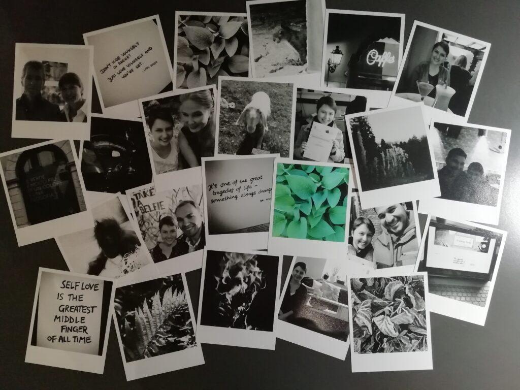 Polaroids für Retro-Fotowand