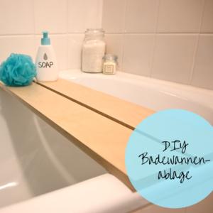 DIY Badewannenablage aus Holz